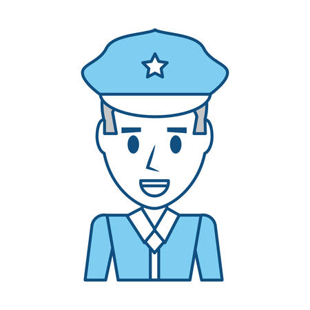 Police officer cartoon icon vector illustration graphic design Illustration