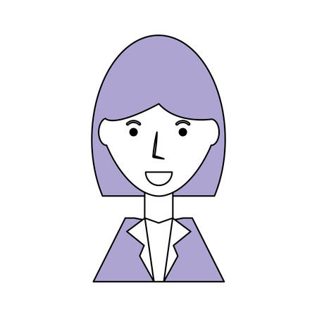 Business woman profile cartoon icon vector illustration graphic design