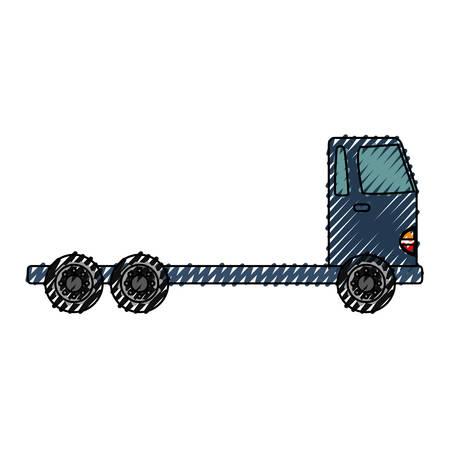 Delivery cargo truck icon vector illustration graphic design Illustration