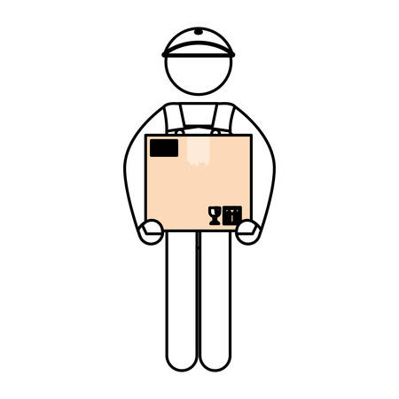 Deliver courier pictogram icon vector illustration graphic design