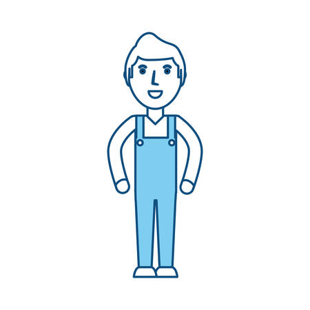 Delivery man cartoon icon vector illustration graphic design Illustration