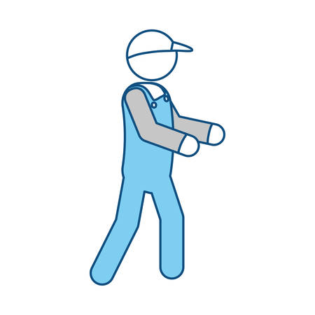 articles: Delivery man courier icon vector illustration graphic design