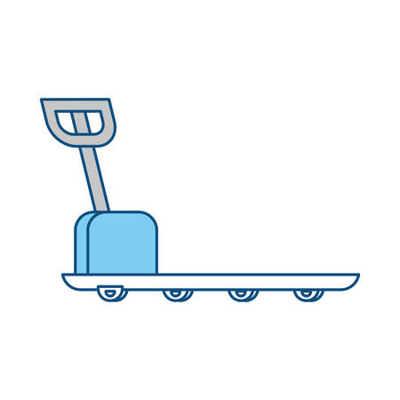 articles: Cargo weight balance icon vector illustration graphic design