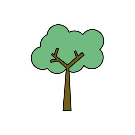 green environment: Tree nature ecology icon illustration graphic design