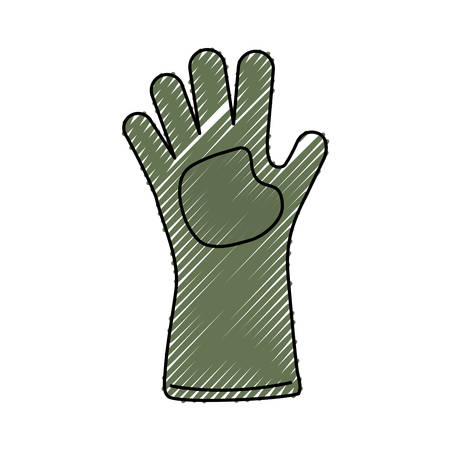 Glove gardening isolated icon illustration graphic design