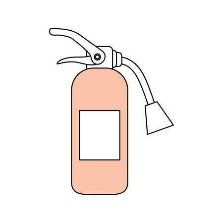 Fire extinguisher industrial security icon vector illustration graphic design