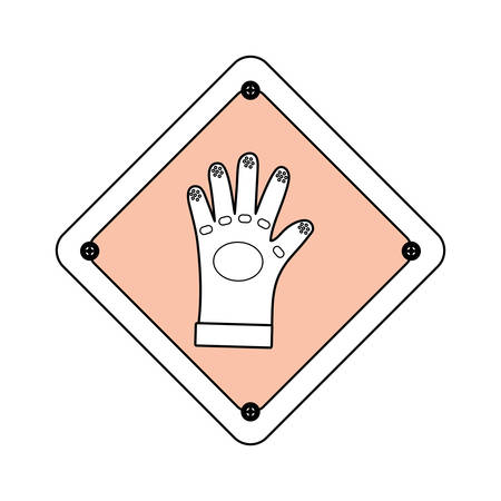 Industrial security sign icon vector illustration graphic design