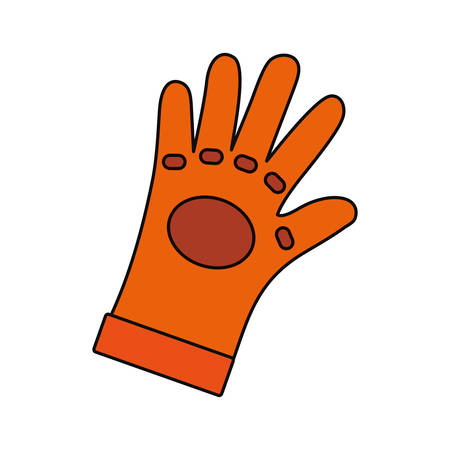 detection: Glove industrial security icon vector illustration graphic design Illustration