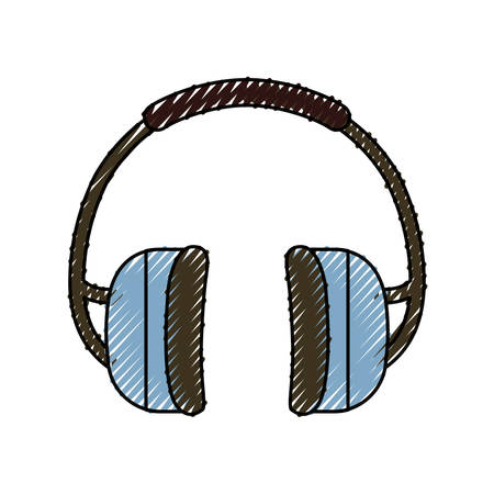 Earphones industrial security icon vector illustration graphic design