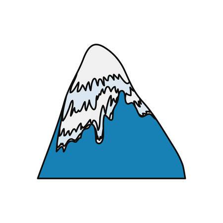 Mountain peak symbol icon vector illustration graphic design