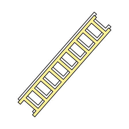 Ladder tool isolated icon vector illustration graphic design Illustration