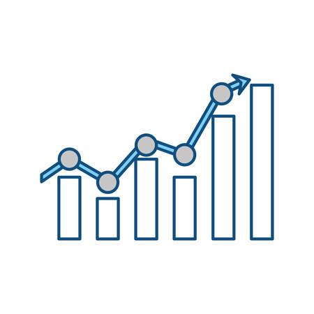 Statistics bars graphic icon vector illustration graphic design Ilustração
