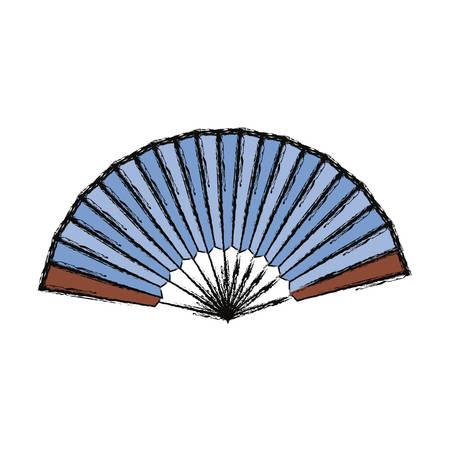 Hand fan isolated icon vector illustration graphic design Illustration