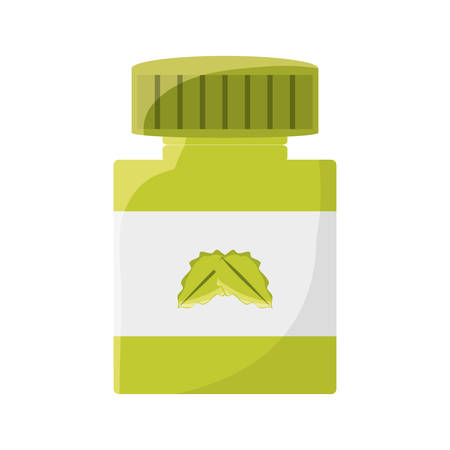 homeopathic: Natural medicine bottle icon vector illustration graphic design Illustration