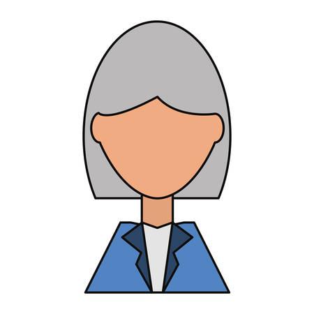 Business woman profile cartoon icon vector illustration graphic design