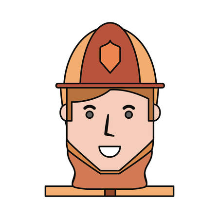 Firefighter profile cartoon icon vector illustration graphic design Illustration
