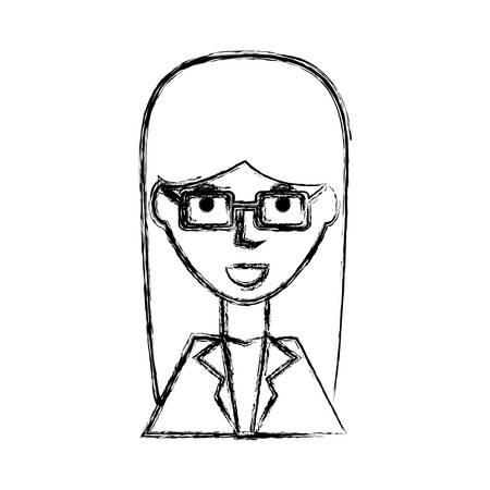 ceo: Business woman profile cartoon icon vector illustration graphic design