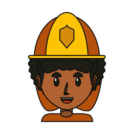Firefighter profile cartoon icon vector illustration graphic design Illustration