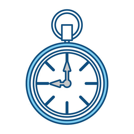 seconds: Clock time isolated over white background vector illustration