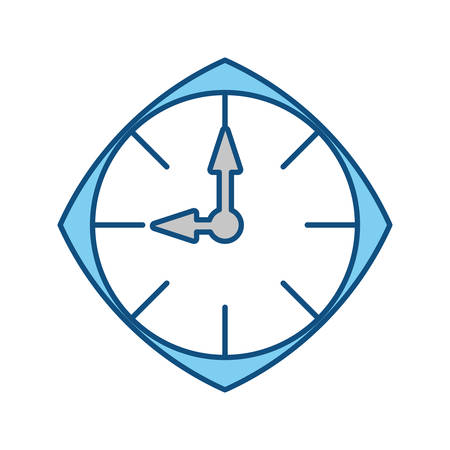 Clock time isolated over white background vector illustration