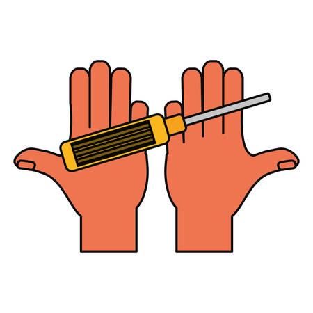 computer screwdriver tool icon vector illustration graphic design Illustration