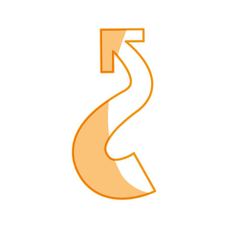 logotype arrow curve icon vector illustration graphic design
