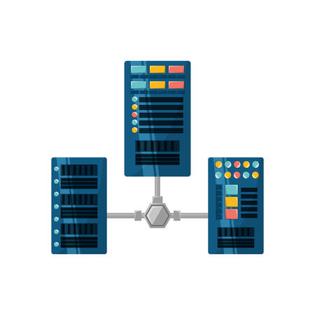 Database servers storages icon vector illustration graphic design