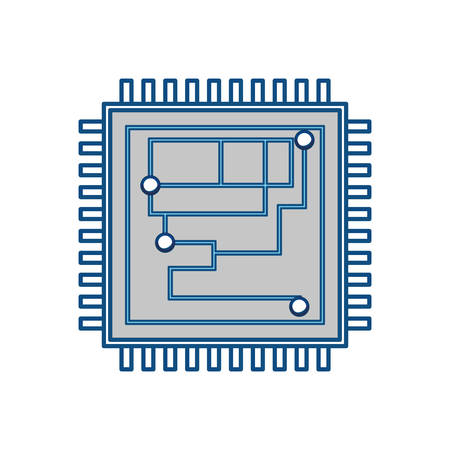 transistor: Microchip integrated circuit icon vector illustration graphic design