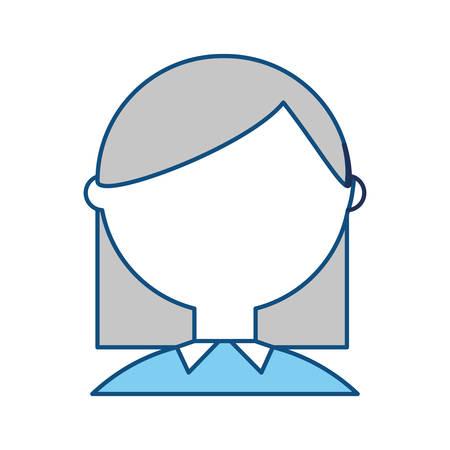 smart boy: Geek woman cartoon icon vector illustration graphic design