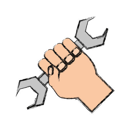 Wrench tool isolated icon vector illustration graphic design Illustration