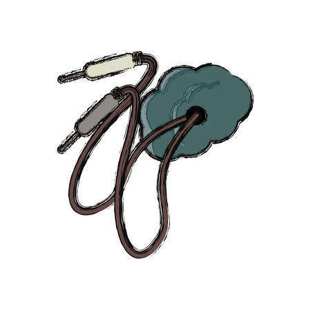 input device: Sound plug wire icon vector illustration graphic design Illustration