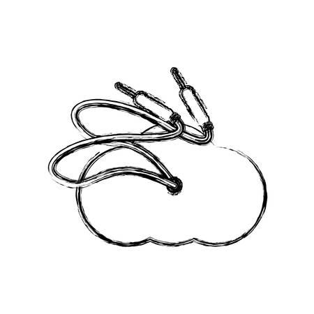 Sound plug wire icon vector illustration graphic design Illustration