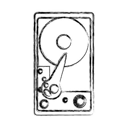 CD stereo hardware icona illustrazione vettoriale illustrazione grafica Archivio Fotografico - 84648151