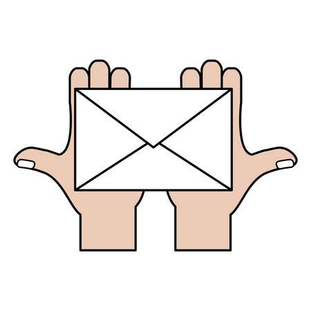 Correo electrónico o correo icono símbolo de la ilustración vectorial de diseño gráfico