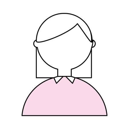 Geek woman cartoon icon vector illustration graphic design