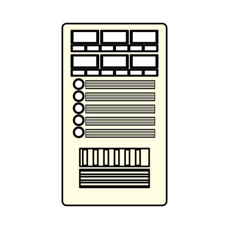 Database server storage icon vector illustration graphic design