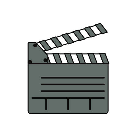 Clapboard movie isolated icon vector illustration graphic design