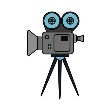 Camcorder movie equipment icon vector illustration graphic design Illustration