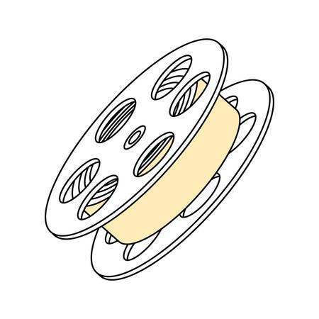 film industry: Movie reel symbol icon vector illustration graphic design