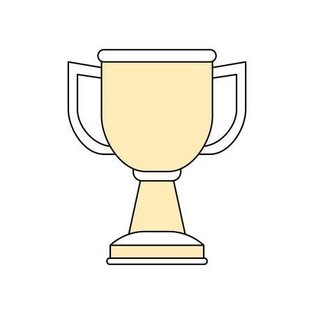 Trophy Cup Symbol Icon Vector Illustration Graphic Design Royalty
