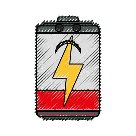 Batterie Energie Symbol Symbol Vektor-Illustration Grafik-Design