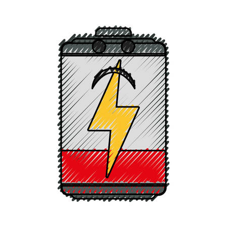 Battery energy symbol icon vector illustration graphic design Illustration