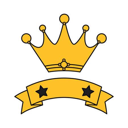 Crown emblem symbol icon vector illustration graphic design