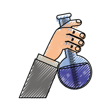 Flask for chemistry lab icon vector illustration graphic design