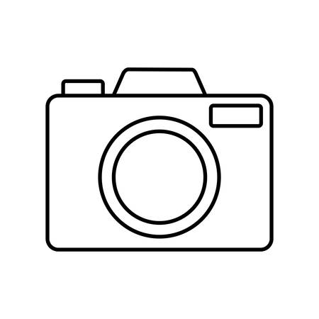 camera icon over white background vector illustration