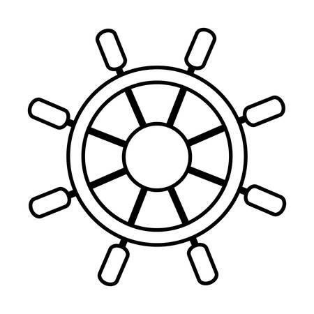 ruder: Ruder-Symbol auf weißem Hintergrund Vektor-Illustration Illustration