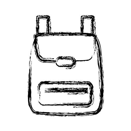 backpack icon over white background vector illustration