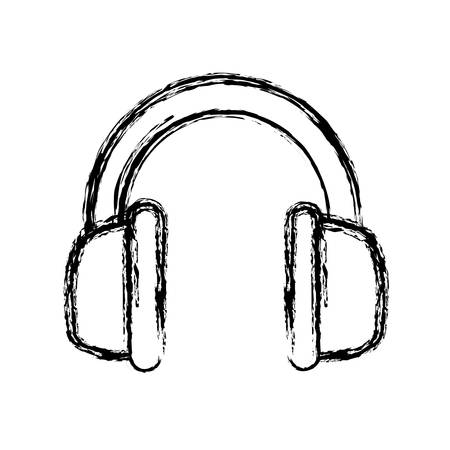 headphones icon over white background vector illustration Illustration