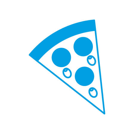 pizza icon over white background vector illustration Illustration