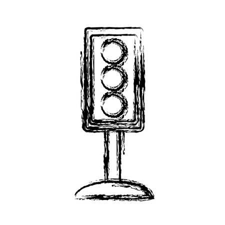 traffic pole: traffic light icon over white background vector illustration